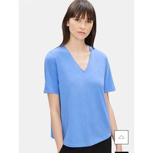 NWT EILEEN FISHER | slubby organic cotton tee top